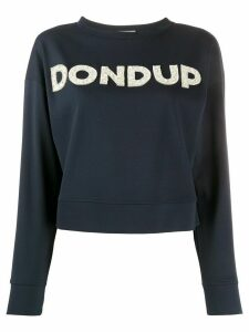 Dondup embellished logo sweatshirt - Blue