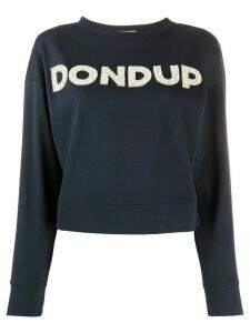 Dondup embellished logo sweatshirt - Blue