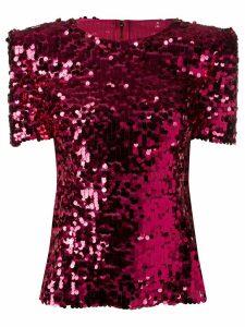 Dolce & Gabbana sequin embellished top - PINK