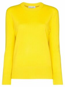 Ply-Knits round neck cashmere sweater - Yellow