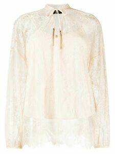 LIU JO lace embroidered blouse - PINK