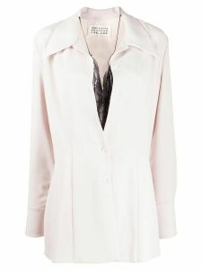 Maison Margiela long-sleeved layered shirt - NEUTRALS