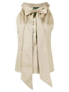 Jejia sleeveless pussy bow blouse - NEUTRALS