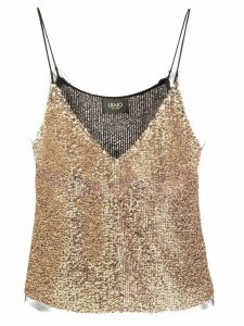 LIU JO embroidered camisole top - GOLD