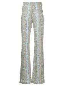 Acne Studios jacquard detail high-waisted trousers - Blue