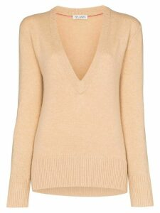Ply-Knits deep v-neck jumper - NEUTRALS