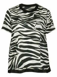 Sacai zebra print relaxed-fit T-shirt - Black