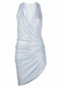 Alexandre Vauthier embellished gathered sides dress - Blue