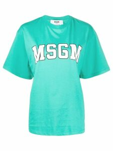 MSGM College logo-print cotton T-shirt - Green