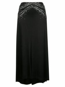 Paco Rabanne crystal embellished jersey skirt - Black