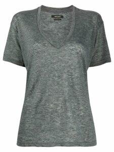 Isabel Marant v-neck burnout jersey T-shirt - Grey