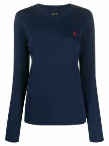 Polo Ralph Lauren logo long-sleeve jumper - Blue