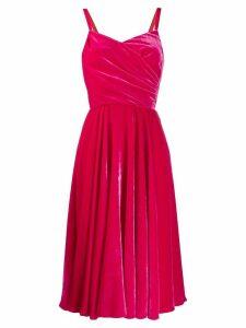 Dolce & Gabbana velvet wrap dress - PINK