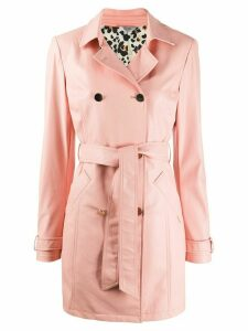 LIU JO double-breasted trench coat - PINK