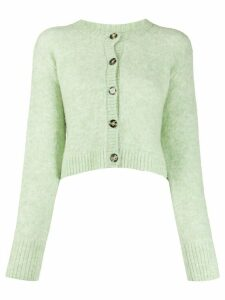 Acne Studios cropped crew neck cardigan - Green