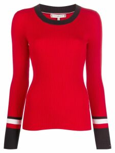 Tommy Hilfiger ribbed long sleeve jumper - Red