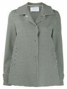 Harris Wharf London houndstooth pattern shirt jacket - Black