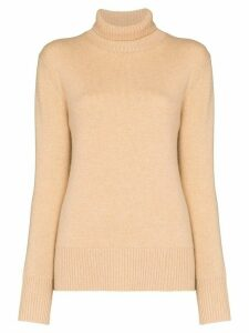 Ply-Knits turtleneck cashmere jumper - NEUTRALS