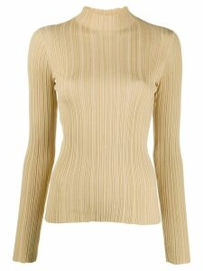 Acne Studios high-neck ribbed top - NEUTRALS