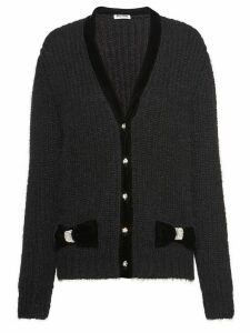 Miu Miu jeweled button cardigan - Black