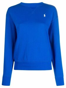 Ralph Lauren logo embroidered jumper - Blue