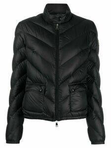 Moncler chevron-quilted down jacket - Black