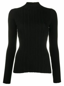 Acne Studios high-neck ribbed top - Black