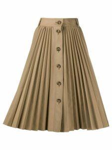 RedValentino pleated midi skirt - Brown
