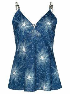 Paco Rabanne starlight print slip top - Blue