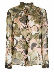 LIU JO silk floral blouse - Green