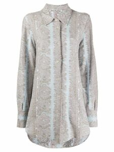 Acne Studios jacquard pattern collared shirt - Blue