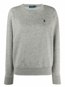 Polo Ralph Lauren logo embroidered sweatshirt - Grey