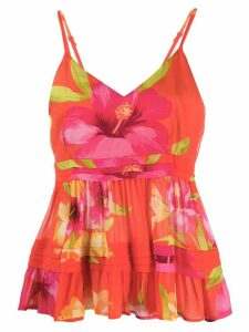 Twin-Set floral print vest top - ORANGE