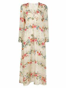 RedValentino floral maxi dress - NEUTRALS