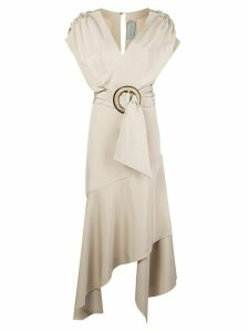 Silvia Tcherassi Protea belted maxi dress - NEUTRALS