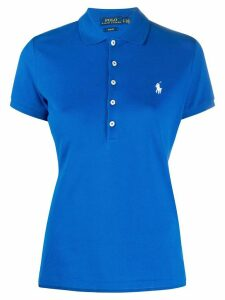 Polo Ralph Lauren logo embroidered polo shirt - Blue