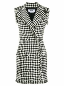 MSGM houndstooth double-breasted dress - Black