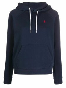 Polo Ralph Lauren embroidered logo hoodie - Blue