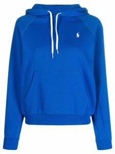 Polo Ralph Lauren logo drawstring hoodie - Blue