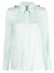 Elisabetta Franchi striped print shirt - Blue