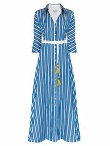 Evi Grintela Ben Youssef striped maxi shirt dress - Blue