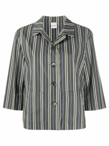 Aspesi striped boxy shirt - Green