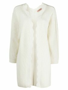Twin-Set long-line knitted cardigan - White