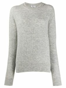 Acne Studios ribbed dropped shoulders jumper - Grey