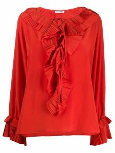 P.A.R.O.S.H. pleated ruffle blouse - ORANGE
