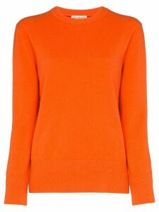 Ply-Knits round neck cashmere sweater - ORANGE