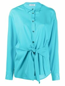P.A.R.O.S.H. pointed collar tie-waist shirt - Blue