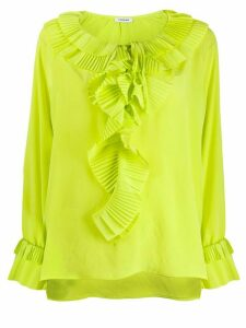 P.A.R.O.S.H. pleated ruffle blouse - Yellow