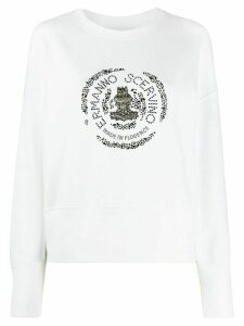 Ermanno Scervino embellished crew neck sweatshirt - White