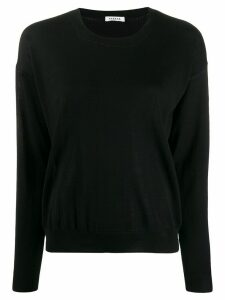 P.A.R.O.S.H. slouchy round neck sweater - Black